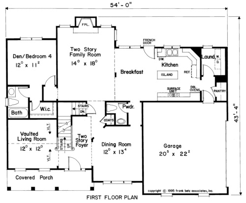 Four Bedroom House Plans
