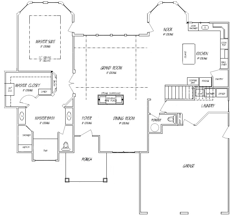 Main Floor Master Floor Plans | 1st Floor Master Suite