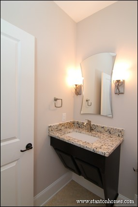 Powder Room Layouts for Small Spaces in Raleigh Custom Homes
