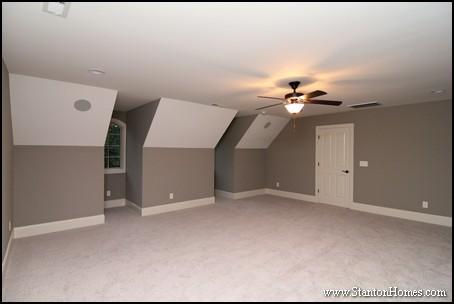 Bonus Room Above Garage | Raleigh New Home Square Feet