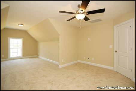 Bonus Room Above Garage | Raleigh New Home Square Footage