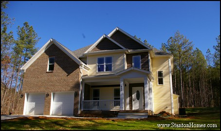 Modern Fireplace Chimney | Raleigh New Homes
