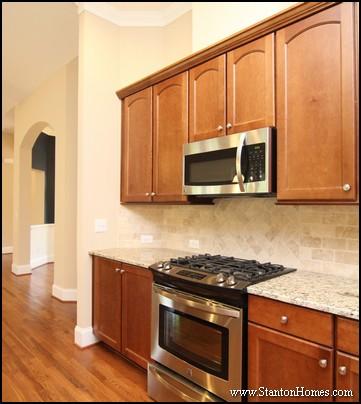 North Carolina Custom Homes   Herringbone Tile Pattern