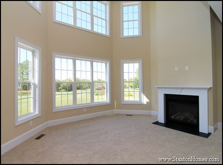 Living room two story