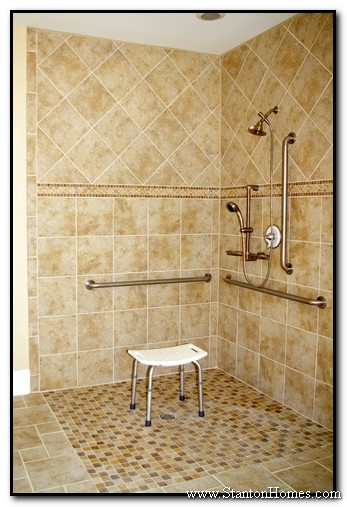 Accessible Bathroom Shower Designs Wheelchair Accessible