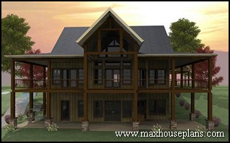 Craftsman Lake Cottage Custom Home Plans Max Fulbright Designs