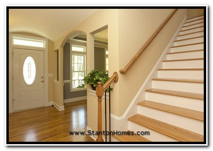 What is a Barrel Vault Foyer, Photos of Barrel Vault Foyers, NC Custom Home Builders