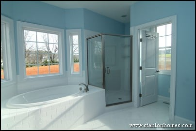 2014 Master Bathroom Tile Trends | NC New Home Shower Styles