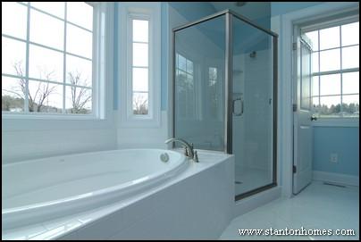 Blue Bathroom Design Photos   Raleigh NC New Homes