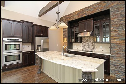 Practical Tips To Create A Better Kitchen | Mixing Dark Kitchen Cabinets  With Light Granite. While Color ...