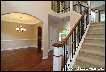 Staircase Design Ideas | Open floor plans with staircase overlooks