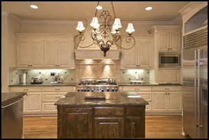 Kitchen Cabinet Ideas: Dual Finishes and Hardware Combinatio ns