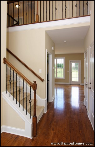 Staircase Design Ideas   Open floor plans with staircase overlooks