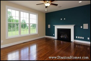 Custom Home Design Trends   Accent Walls - Adding Color and Texture
