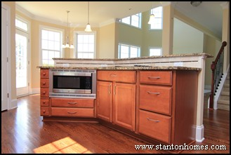 Island Kitchen with Microwave