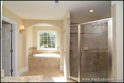 2014 Master Bathroom Trends | NC New Home Shower Enclosure Styles