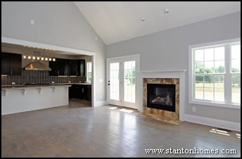 Custom Home Design Trends | Accent Walls - Adding Color and Texture
