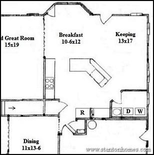 Custom Kitchen Floor Plan