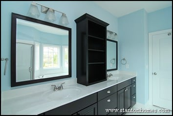 Master Bathrooms with Cabinet Storage | Storage Ideas for the Master Bath