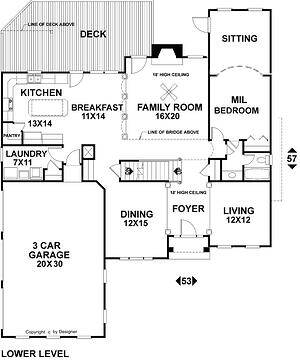 Plan Atlanta Yorkville Floor 1