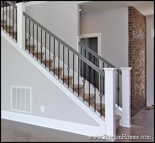 Post to Post Staircase Picture   Staircase Design Ideas   Raleigh Custom Home Builders