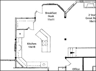 Top   Corner Pantry Floor Plans with Pictures Raleigh Custom Homes on small galley kitchen designs