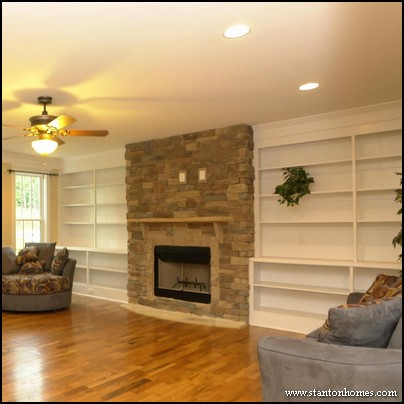 Built in Fireplace and Bookcase