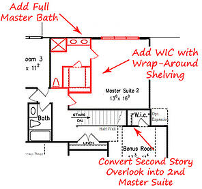 Homes with Two Master Bedrooms   Raleigh Dual Master Bedroom Homes