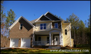 Chapel Hill Home Builders | Concrete Front Porch