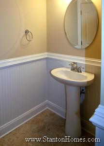 Beadboard wainscoting | Custom home builders