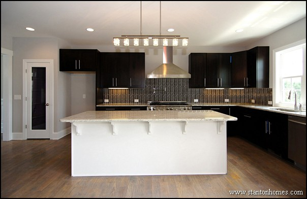 Kitchen Color Trends   Dark Cabinets and Light Countertops