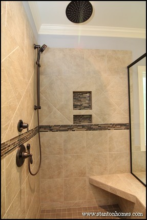 12 Showers with a Built In Bench | NC New Home Builder