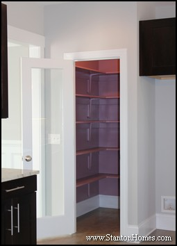 Glass Pantry Doors | Contemporary Kitchens
