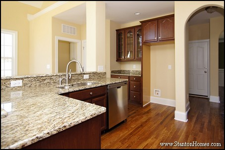 Glass Front Kitchen Cabinets   Raleigh Custom Homes