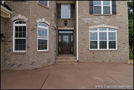 Raleigh Custom Homes   Entrance Designs
