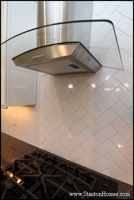 North Carolina Custom Homes | Herringbone Tile Pattern