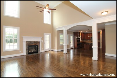 Fireplaces with Wainscoting Accents | North Carolina New Home Design