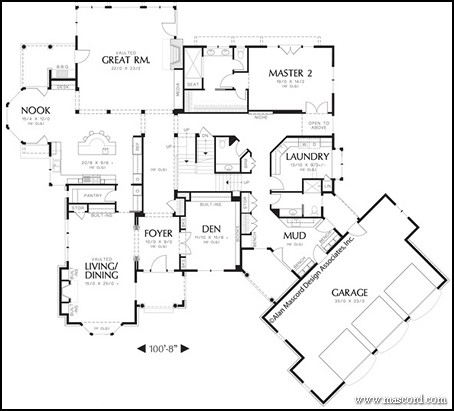 Marvelous Top 3 Multigenerational House Plans | Build A Multigenerational Home. This  Home Features Two Master Suites   One ...