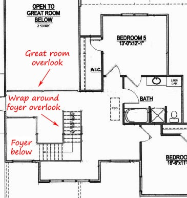 Two story floor plans Chapel Hill | Homes with a two story foyer