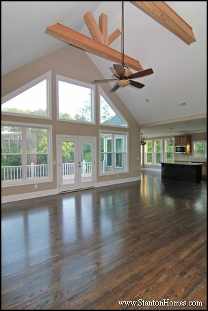 Raleigh New Homes   Wooden Beam Ceiling