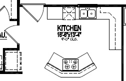 How to read a kitchen floor plan