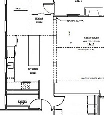 How to read a kitchen floor plan | Kitchen floor plan design