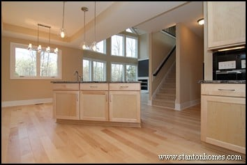 Island Kitchen Open to Great Room | Open Floor Plan Design