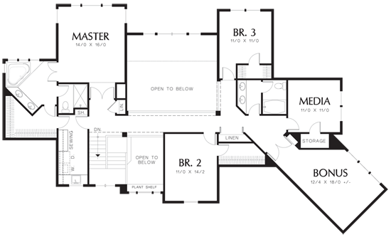 Raleigh floor plans with laundry room next to master for Laundry room floor plan example