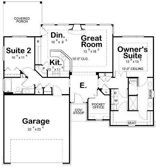 Floor Plans with Laundry Room Next to Master