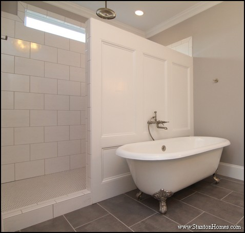 Freestanding Tub Design   Raleigh Custom Homes