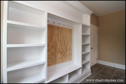 Mudroom Drop Zone | Raleigh Custom Home Builders