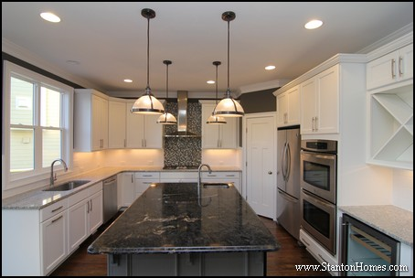 Practical tips to create a better kitchen   Mixing white kitchen cabinets with black granite