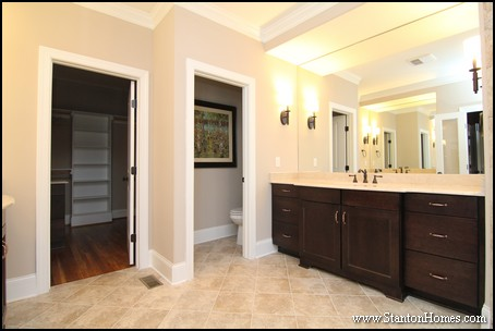 Classic Master Bathroom Design Ideas | Cary NC Custom Homes