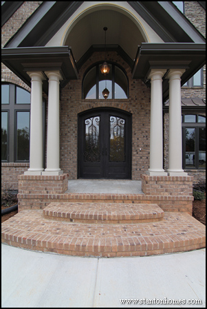 One Or Two Front Doors Dual Entry Design North Carolina Homes